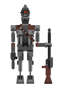 Another Star Wars bounty hunter illustration: the IG 88 assassin droid. Looks like I
