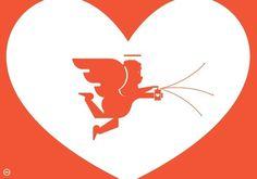 coqueterías - baubauhaus: via leandrocastelao.com.ar #heart #red #print #cupid #love