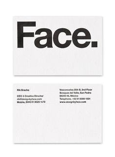 Face — Design by Face. #gird #business #card #stationery #helvetica
