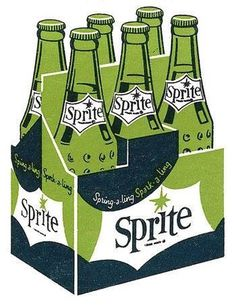 #sprite #soda #pop #illustration #retro #vintage #packaging