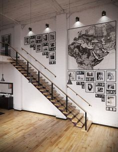 CJWHO ™ (Industrial Loft With Organic Traits) #loft #design #interiors #photography #architecture #industrial #stairs
