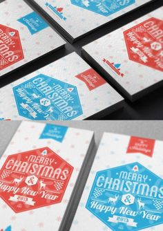Christmas Cards from Behance for your Inspiration #christmas