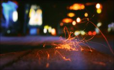 Frames from time on Behance #sparks #red #photo #bokeh #freedom #photography #spark #light #awesome #beauty