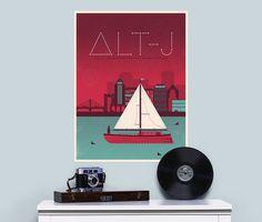 Alt J Concert Poster #print #design #illustration #vector #color #flat