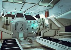 Syndicate 19 by BradWright - Brad Wright - CGHUB #design #sci fi #interior #science fiction #space #ship