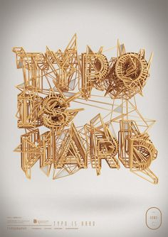 Typography 07. on Behance #type #3d