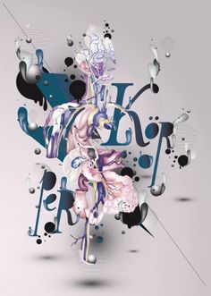 Anatomy : Vector Work on the Behance Network #type #illustration #typography