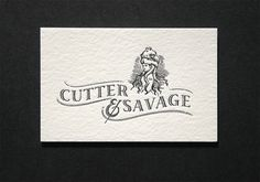design work life » Cutter & Savage Business Cards #identity