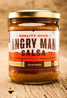 Angry Man Salsa Packaging #packaging #salsa