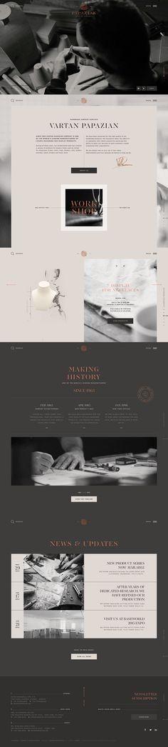 Papazian Website by Kommigraphics #Web Design #Website #Corporate Design, #Corporate Website #Corporate Image #UX #UI #Content Management #