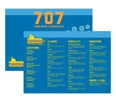 707 Submarine Sandwiches on Behance #sandwich #packaging #menu #restaurant #brand #identity #submarine