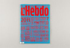 Hebdo cover (New) : DEMIAN CONRAD DESIGN #cover #blue #red #typography
