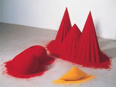 Anish Kapoor | PICDIT #sculpture #red #color #sand #art