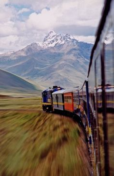 Andese Train, a photo from Puno, South | TrekEarth #photography #mountain #train #road #speed