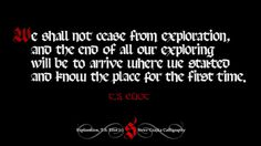 Exploration T.S. Eliot