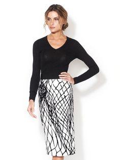 Dolce #fashion #skirt #white #black