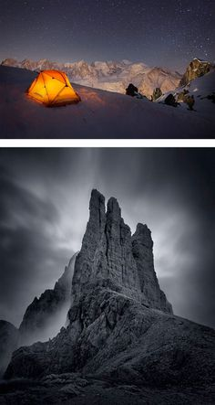 Mountain Photography by Roberto Bertero #mountain #exposure #night #photography #long