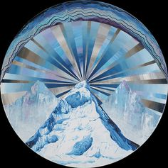 but does it float #abstract #mountain #ground #supernatural #dali #unrealistic #painting #circle #ice #drawing