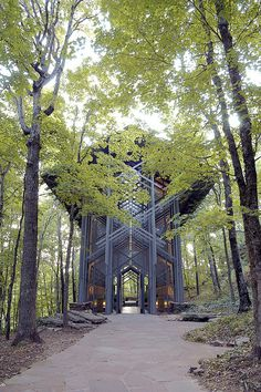The Thorncrown Chapel, an Idyllic Glass Chapel in Rural Arkansas is Under Threat #temple #architecture #modern