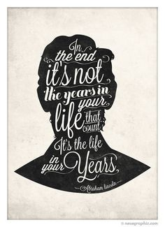Abraham Lincoln Hand Written style quote poster by NeueGraphic #quote #print #design #neuegraphic #poster #typography