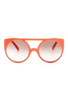 The Village Oversized Round Frame by Karen Walker Sunglasses up to 60% off at Gilt #fashion #glasses #retro