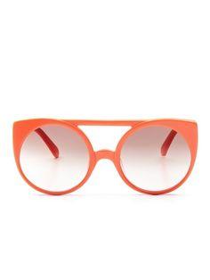 The Village Oversized Round Frame by Karen Walker Sunglasses up to 60% off at Gilt