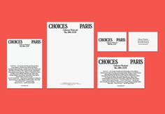 Diary of Design - Choices Paris by Côme de Bouchony #print #identity