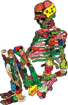 X__X • 死 者 の 顔 • #skull #skeleton