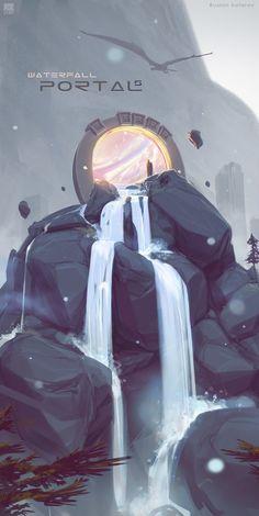 Portals. Waterfall