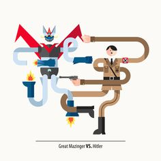 Unlikely Opponents on Behance #illustration