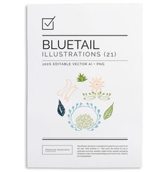 Bluetail Hand Drawn Clip Art $6.00 Bluetail clip art set includes frames, laurels, wreaths, ribbons, foliage and other beautiful elements.
