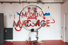 The Medium is the Massage by Niels Buschke #medium #massage #3d #typography