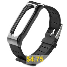 Sports #Wristband #Smart #Bracelet #Strap #with #Magnetic #Shell #for #Xiaomi #Mi #Band #2 #- #BLACK