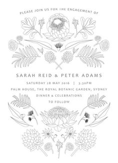Australian Native Colour - Engagement Invitations #paperlust #engagement #engagementinvitation #invitation #engagementcards #engagementinsp