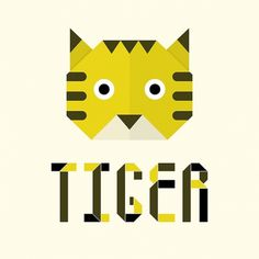 Origami | Typeface on the Behance Network #illustration #tiger