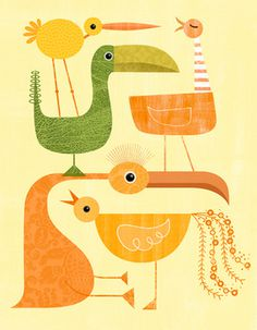 Bye Bye Birdie #birds #illustration