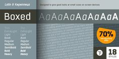 Boxed #fonts #typography
