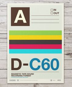 Audio Cassette Posters by Neil Stevens