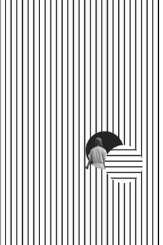 Really like how this designer has only used black and white in this image. this image is creating a strong level of contrast by being positioned in the bottom right corner. the vertical lines to the ratio of horizontal lines create a strong focal point and reveals a sense of balance through tension.