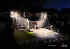 Marshalls - Paving to be proud of. Floodlights. #creative #paving #pride #proud #photo #creativity #advertising #photography #advert