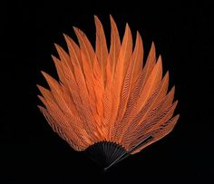 Marieaunet: Eventail 1920 #fashion #plumes #orange #eventail