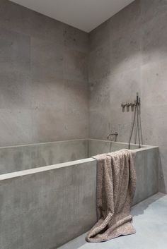 Gold & Gray Apartment by Richard Lindvall. #bathroom #minimal #richardlindvall