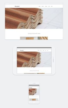 Corelam—Vancouver wood veneer responsive website design