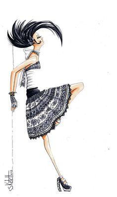 30+ Cool Fashion Sketches #girl #art #fashion #drawing #sketch