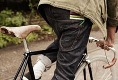 Likes | Tumblr #pocket #back #bike #detail #jeans