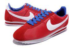 Nike Classic Cortez Nylon Womens Ocean Red White Blue
