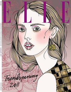 Frida #fashion #elle #illustration #illustrayion