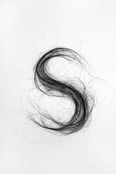 Typography hair www.moniquegoossens.com #hair #art #typography