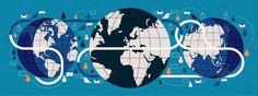 Global Communication. Client: Fortune   The Visual Work Of Mike Lemanski #blue #illustration #world #chart