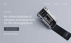 #analog #web #webdesign #website #clean #cameras #film